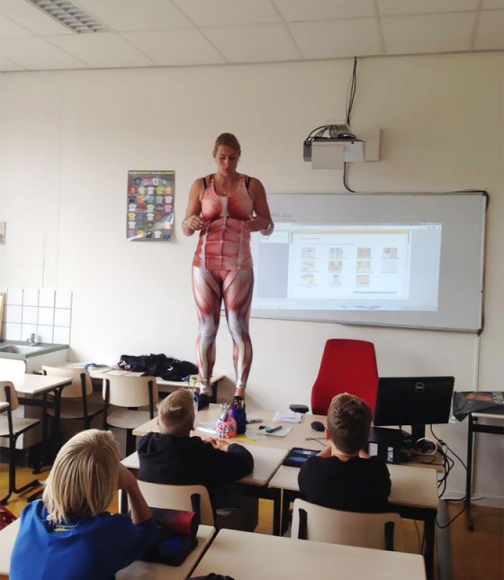 海外の人体の授業1
