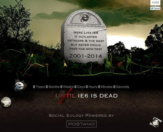 IE 6 DEATH.comがワロタww