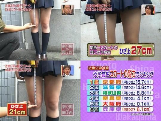 神奈川の女子高生のスカートが短かい1