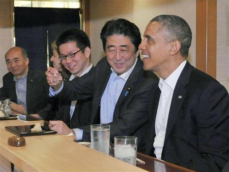 オバマさんが寿司を残す