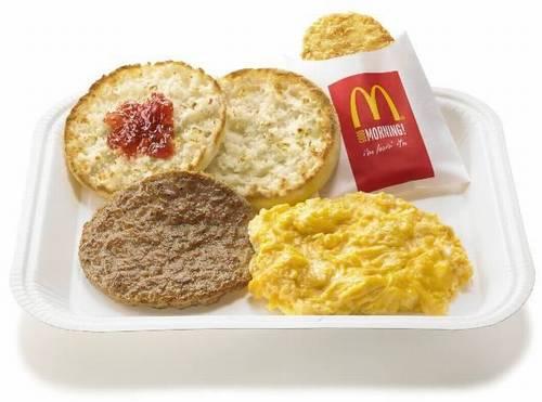 """マックの""""朝食プレート"""""""
