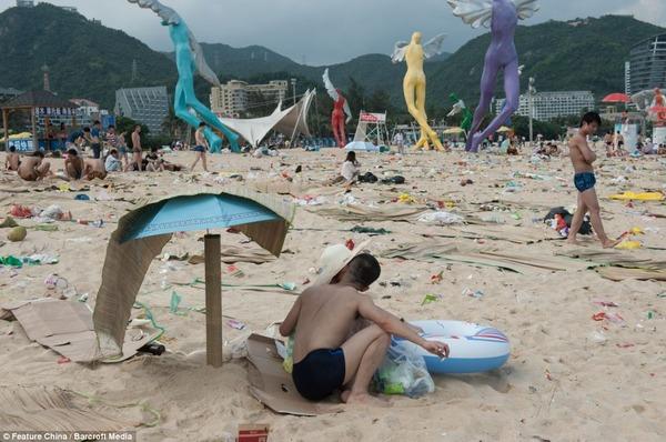 中国の海水浴場が酷い