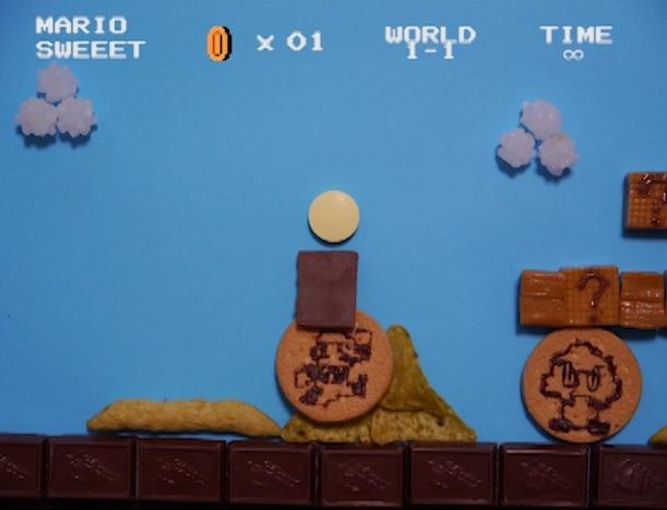 お菓子で作ったマリオが凄い!