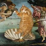 世界の絵画と太った猫のコラ絵が凄かった